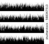 grass banners set. nature... | Shutterstock .eps vector #588347513
