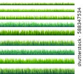 grass banners set. nature... | Shutterstock .eps vector #588347534