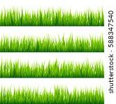 grass banners set. nature... | Shutterstock .eps vector #588347540
