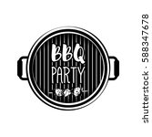 bbq party banner grill badge.... | Shutterstock .eps vector #588347678