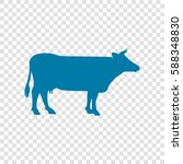 cow sign illustration. vector.... | Shutterstock .eps vector #588348830