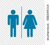restroom sign illustration.... | Shutterstock .eps vector #588349214