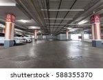 parking garage interior ... | Shutterstock . vector #588355370