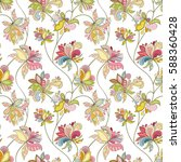 seamless flower pattern can be... | Shutterstock .eps vector #588360428