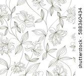 seamless flower pattern can be... | Shutterstock .eps vector #588360434