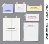 realistic paper notes set... | Shutterstock .eps vector #588360980