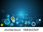 vector illustration science... | Shutterstock .eps vector #588363569