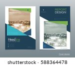 vector design brochure flyer ... | Shutterstock .eps vector #588364478