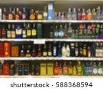 wine liquor bottle on shelf...   Shutterstock . vector #588368594
