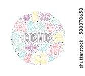 cosmos clipart element   a lot... | Shutterstock .eps vector #588370658