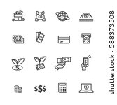 money set icons vector | Shutterstock .eps vector #588373508