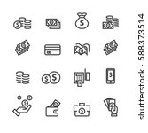 money set icons vector | Shutterstock .eps vector #588373514