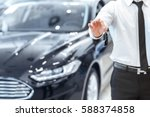 passing car keys. cropped... | Shutterstock . vector #588374858