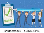 monitoring the quality of work... | Shutterstock .eps vector #588384548