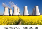 panoramic view of nuclear power ... | Shutterstock . vector #588385358