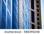 modern office building detail ... | Shutterstock . vector #588390248