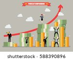 power of compounding. vector... | Shutterstock .eps vector #588390896