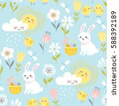 Cute Easter Pattern With...