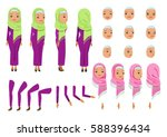 arab woman character creation... | Shutterstock .eps vector #588396434