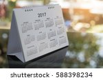 desktop calendar page 2018 for...   Shutterstock . vector #588398234