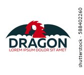dragon logo. chinese dragon.... | Shutterstock .eps vector #588402260