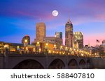 indianapolis skyline and the... | Shutterstock . vector #588407810