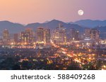 Top View Of Downtown Phoenix...