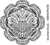 coloring page for adults.... | Shutterstock .eps vector #588409658