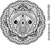coloring page for adults.... | Shutterstock .eps vector #588409688