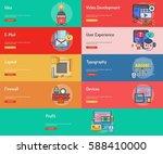web and development conceptual... | Shutterstock .eps vector #588410000