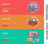 web and development conceptual... | Shutterstock .eps vector #588410066
