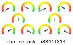 meter signs infographic gauge... | Shutterstock .eps vector #588411314