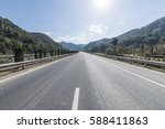 forest road | Shutterstock . vector #588411863