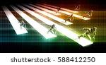 business incubator for startups ... | Shutterstock . vector #588412250