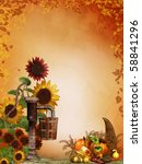 Autumnal Background With...
