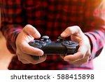 Men Control Games.a Young Man...