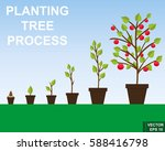 the process of growing trees.... | Shutterstock .eps vector #588416798