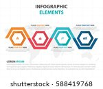 abstract colorful hexagon... | Shutterstock .eps vector #588419768