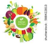 vegetables vector illustration | Shutterstock .eps vector #588422813