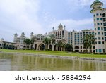 Palace of The Golden Horses located at Seri Kembangan, Selangor, Malaysia. - stock photo