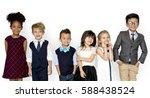 little children dressed up...   Shutterstock . vector #588438524