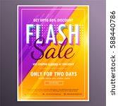 flash sale banner template...   Shutterstock .eps vector #588440786