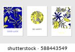 set of creative cards with... | Shutterstock .eps vector #588443549