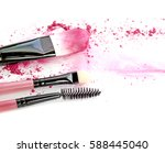 cosmetic powder brush circle... | Shutterstock . vector #588445040