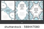 book template collection.... | Shutterstock .eps vector #588447080