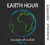 Earth Hour Background With...