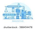 linear flat industrial... | Shutterstock .eps vector #588454478