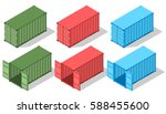 large metal containers for... | Shutterstock .eps vector #588455600