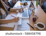 working process startup.... | Shutterstock . vector #588458798