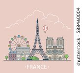 france country design template. ... | Shutterstock .eps vector #588460004